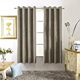 Mayding Home Bedding Grommet Top Thermal Insulated Blackout Curtain for Living Room (50X63inch, Bronze) For Sale