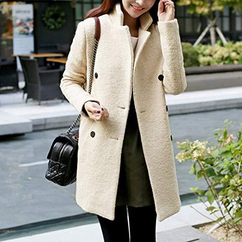 robe robes et mince cher manteau Tjoirej femmes Chine femme d'hiver manteau en des M femmes Beige longue d'automne XL section pas manteaux était g4Axwqa