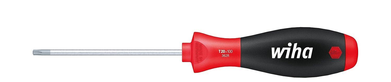 Allrounder f/ür Industrie und Handwerk T10 x 80 mm ergonomischer Griff f/ür kraftvolles Drehen Wiha Schraubendreher SoftFinish/® TORX/®/Festhaltemechanik Magicspring/® mit Rundklinge 27740