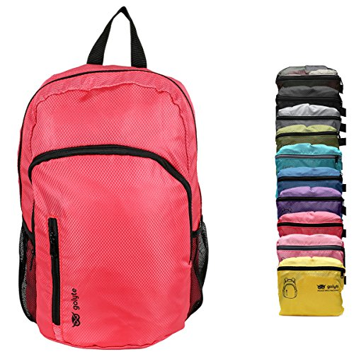L Packable Travel Hiking Backpack Daypack Red for Women Men Durable ()