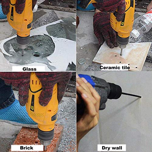 AIUSD Clearance , Set Glass Marble Porcelain Spear Head Ceramic Tile Drill Bit 4/6/8/10mm Tool 4pc