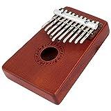 Kalimba Mbira Sanza 10 Keys Thumb Piano Pocket Size Beginners Friendly Supporting Kalimba Bag and Musical Notation