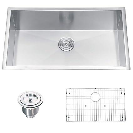 SEIDO 30 Inch Undermount Kitchen Single Bowl Sink, Extra ...