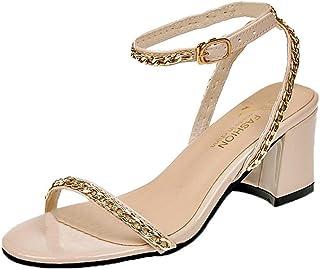 Femme Sandales,Sandales à Talons carrés et Talons carrés,Chaussures de Sport Sandales à Talons carrés et Talons carrés K190104C1591