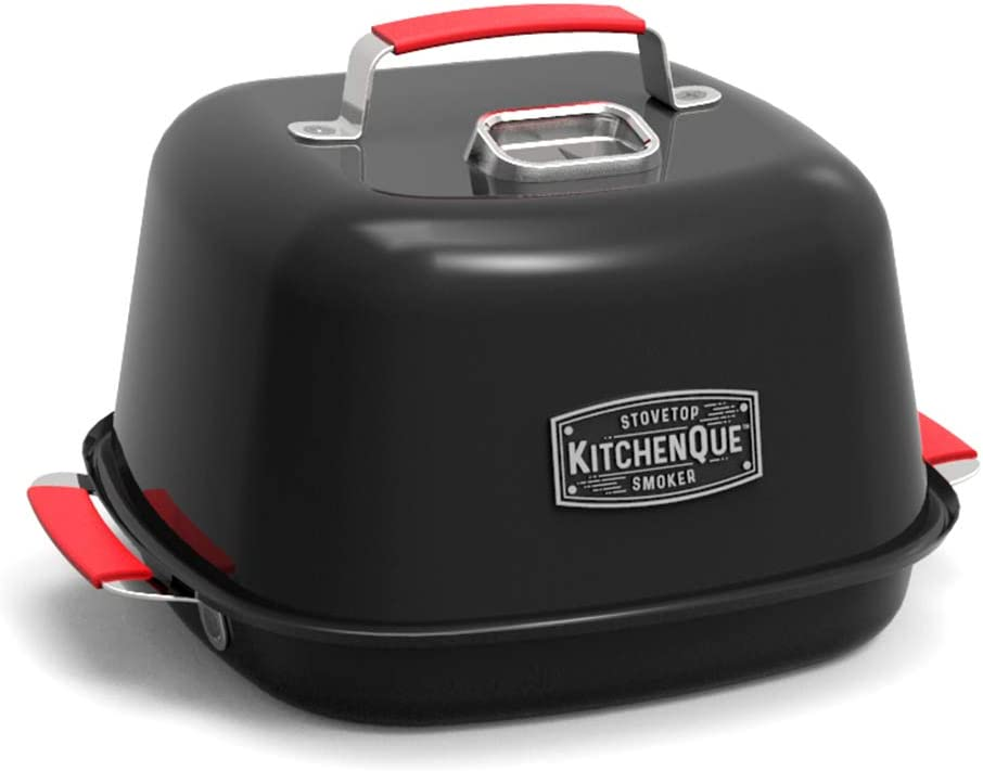 Charcoal Companion CC4132 KitchenQue Indoor Stovetop Smoker, 13.5 x 12.5 x 9.5 , Black