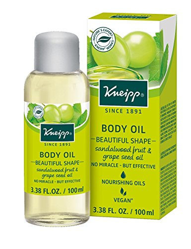 Kneipp Sandalwood Fruit & Grapeseed Oil Body Oil, 3.38 fl. Oz, Beautiful Shape (Sandalwood Oil Body)