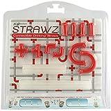 Red Strawz Connectable Build Your Own Straws Construction Kit - Fun Modular Interlocking Educational Toys