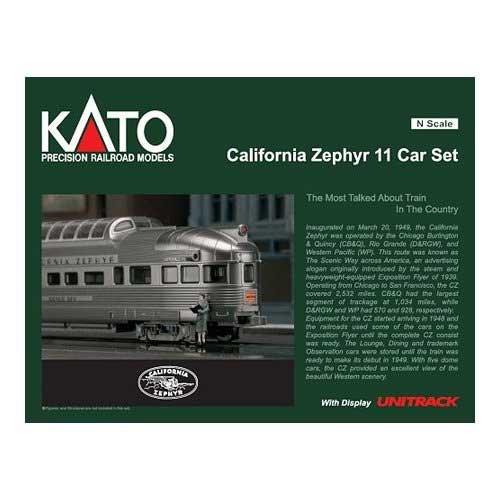 Kato KAT106056 N Passenger Set, California Zephyr (11) for sale  Delivered anywhere in USA
