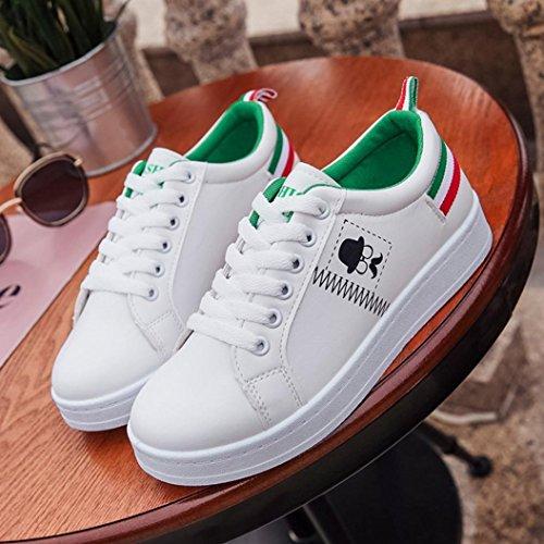 Verde Zapatos Planos Escolares de Zapatillas Senderismo Trabajo Zapatos Merceditas Otoño PAOLIAN Baratos Calzado Mujer Calzado Moda de Espadrilles Deporte Escolares Dama Cómodos para de ggqP7w8