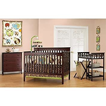 Amazon.com : Baby Mod - Bella 4-in-1 Fixed Side Crib, Changing Table ...