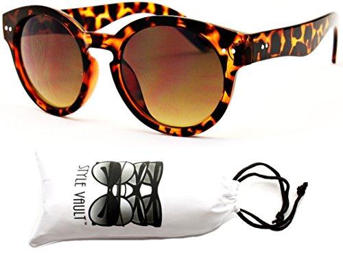 [V118-vp Style Vault Round 80s Sunglasses /Glasses (E1062G Tortoise Brown, uv400)] (1960s Vintage Halloween Costumes)