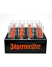 Jägermeister Shotglas shotglas plast provrör – förpackning med 12