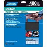Norton 48060 Sandwet Sandpaper 400 Grit, 9-Inch x 11-Inch, 5-Pack by Symantec