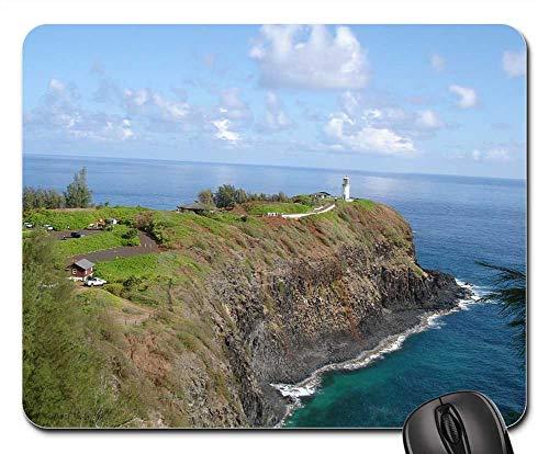 Kilauea Point - Mouse Pads - Penninsula Cliff Kilauea Point Light House Ocean
