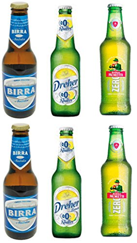 Vittleitaly: Non-alcoholic Beer Variety Pack - Includes Three Different Non-alcoholic Beers* 11.15 Fluid Ounce (33cl) Bottle (Pack of 6) * [ Italian Import ] Inbev Anheuser Busch