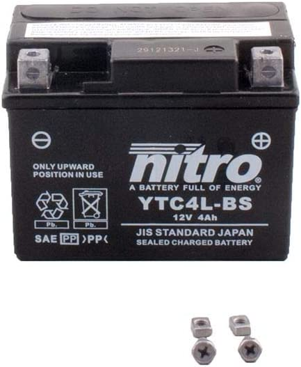 Batterie 12 V 4 Ah YTX4L-BS Gel Nitro 50314 Znen 50 QT-E 4 temps 00