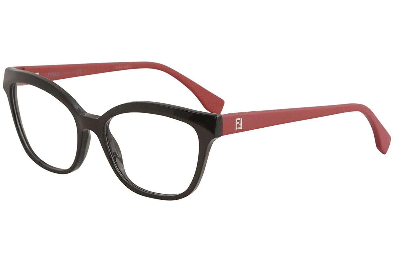 c71e3be6e9b7 Amazon.com  FENDI Women s FF 0044 MGT Brown Clear Cat eye Eyeglasses 54mm   Clothing