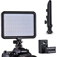 Tycka Camera 204 Led Lighting Panel, Video Photo Studio Light, 1300lm Stepless Dimmable Brightness, 3200K - 5600K White and Yellow light, 2200mAh battery and charger, Ultra-thin, for DSLR DV Camcorder