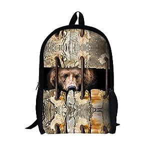 TOREEP 3D Wall Sewing Animal Printing Backpack School Bags