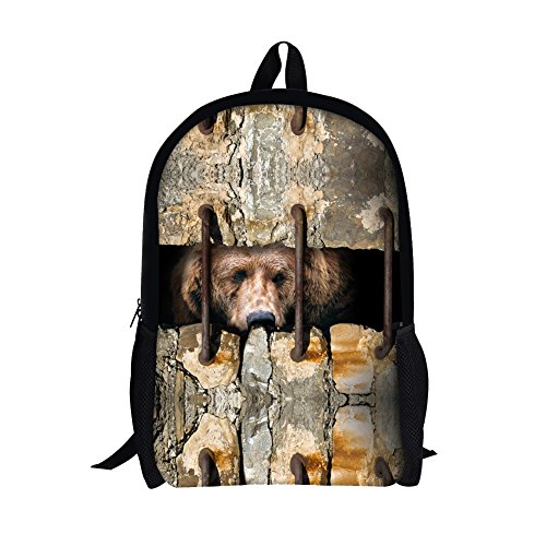 TOREEP 3D Wall Sewing Animal Printing Backpack School - Less Eyeglasses For Designer
