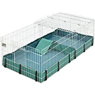 Guinea Habitat Plus Guinea Pig Cage by MidWest w/ Top Panel, 47L x 24W x 14H Inches