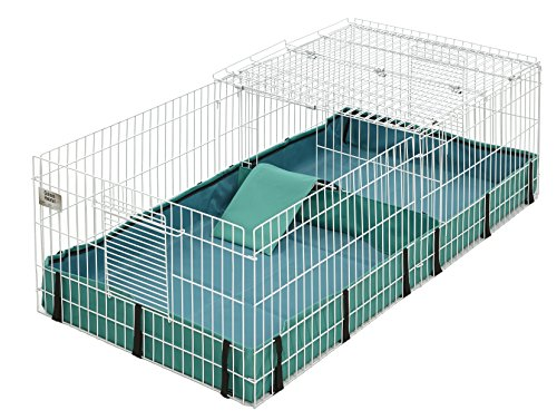 - Guinea Habitat Plus Guinea Pig Cage by MidWest w/ Top Panel, 47L x 24W x 14H Inches