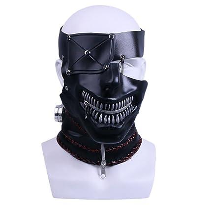 nihiug La Película Tokyo Ghoul Cos One-Eyed Jin Muyan Máscara Máscara Accesorios para La
