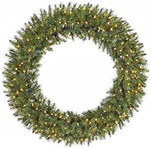 Amazon.com: Christmas Wreaths, Pre-Lit, Large Douglas Fir ...