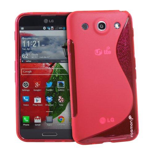 Fosmon DURA S Series Flexible SLIM-Fit TPU Case for LG Optimus G Pro / LG E980 (Hot Pink)