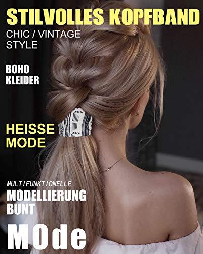 WERFORU 6er BOHO Stirnband Damen Blumen Haarband damen Haarreifen Headwrap