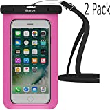 Waterproof Case,2 Pack iBarbe Universal Cell Phone Dry Bag Pouch Underwater Cover for Apple iPhone 7 7 plus 6S 6 6S Plus SE 5S 5c samsung galaxy Note 5 s8 s8 plus S7 S6 Edge s5 etc.to 5.7 inch,Rose