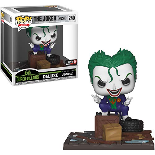 Funko The Joker [Hush] (GameStop Exclusive Deluxe DC Collection Jim Lee): Batman x POP! Heroes Vinyl Figure + 1 Official DC Trading Card Bundle [#240 / 34778]