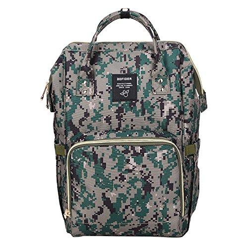bigforest momia mochila bolsa de viaje multifunción bebé pañales cambiar pañales bolso Tote Bag C Talla:talla única