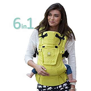 LÍLLÉbaby Complete Embossed Luxe Six-Position 360° Ergonomic Baby and Child Carrier, Citrus