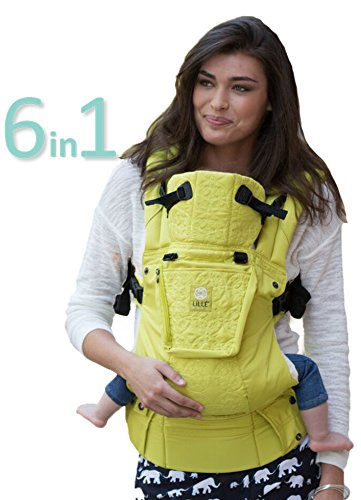 LÍLLÉbaby The Complete Embossed SIX-Position 360° Ergonomic Baby & Child Carrier, Citrus - Cotton Baby Carrier, Ergonomic Multi-Position Carrying for Infants Babies Toddlers ()