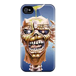 Bumper Hard Cell-phone Case For Iphone 4/4s (qjC10960wvEj) Custom Colorful Iron Maiden Pattern
