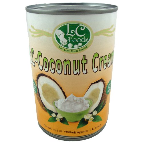 Coconut Cream - LC Foods - All Natural - Low Carb - Paleo - Gluten Free - No Sugar - Diabetic Friendly - 13.5 oz by LC-Foods