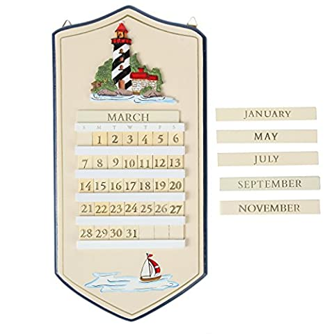 Trenton Gifts Perpetual Calendar, Lighthouse Perpetual Calendar - Hooters Calendar