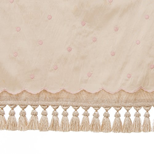 (Glenna Jean Crib Florence Skirt Dust Ruffle for Baby Nursery Crib, PRINCESS, FLOWERS, CLASSY)
