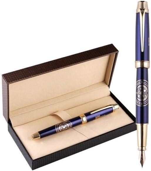 TPXR ペン、12Kゴールドチップシグネチャーペン、ビジネスオフィスギフト、絶妙なパッケージング、0.5mm中厚筆記ペンヘッド(青) (Color : Blue)