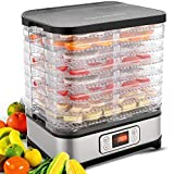 Homdox Food Dehydrator Machine, Fruit Dehydrators with 8-Tray, Digital Timer and Temperature Control(95ºF-158ºF),400 Watt, BPA Free
