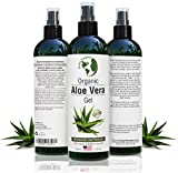 Aloe Vera Gel - 99.75% Organic, 12 oz Great for Face, Hair, Acne, Sunburn, Bug Bites, Rashes, Eczema