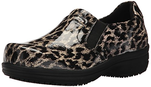 Easy Works Women's Bind Health Care Professional Shoe, Beige Leopard, 12 2W US by Easy Works