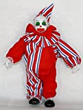 Clown Porcelain Doll 10 Inches Red