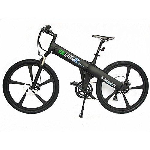 Black New Electric Bike Matt Black Electric Bicycle Mountain 500w Lithium Battery City Ebike by EGO BIKE