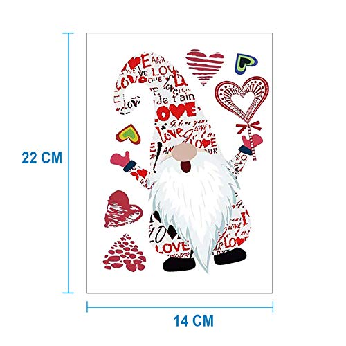 Valentine's Day, Easter Iron on Patches for Jackets T-Shirt Jeans Pillow Backpacks Clothes Cute Gnome Motif Washable Heat Transfer Iron On Stickers with DIY Decor Design(Valentine's Day-A,10PCS)