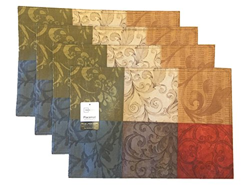 Mainstays Tuscany Kitchen Collection - Fabric Placemats (Set of 4) - fabric set of 4 - placemats, kitchen-dining-room-table-linens, kitchen-dining-room - 51lhX4c4F3L -