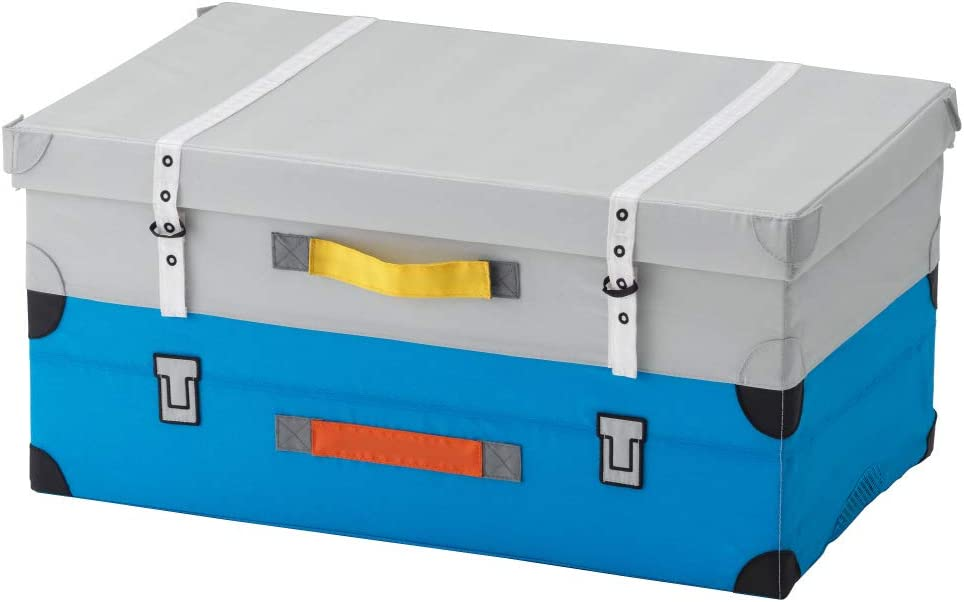 IKEA ASIA FLYTTBAR - Baúl para juguetes, color turquesa: Amazon.es: Hogar