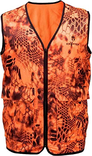 Kryptek Vesuvius Orange Hunting Vest, Inferno, L