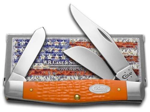 Case Large Orange Jigged Stockman Pocket Knife